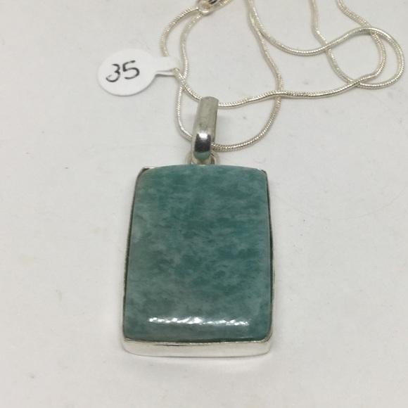 Handmade Jewelry - Amazonite Silver Pendant
